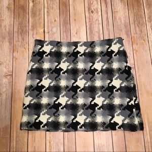 JCrew Wool Black, Gray, and Cream Skirt, Sz 8